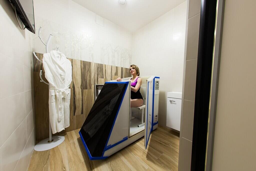 Сухая углекислая ванна в санатории Беларуси Лесные озера
