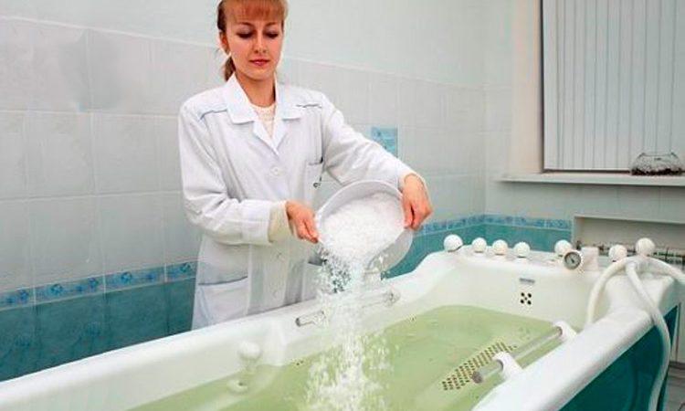Ванна с бишофитом в санатории Лесные озера